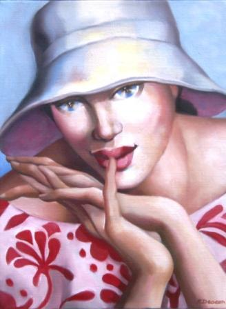 Rachel DEACON - Woman in a Summer Hat