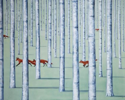 British Artist Rebecca CAMPBELL - A Skulk of Foxes