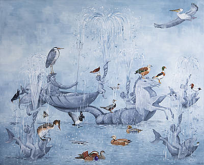 British Artist Rebecca CAMPBELL - Charge of the Water Brigade