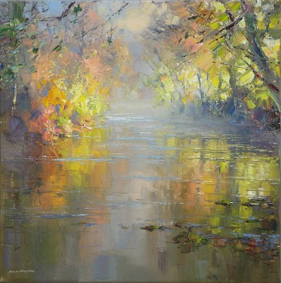 Rex PRESTON - Autumn Morning, River Derwent, near Calver