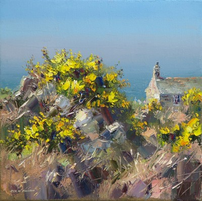 Rex PRESTON - Cottage by the Sea, Cornwall