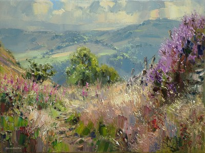 Rex PRESTON - Heather and Willowherb, Curbar Gap
