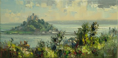 Rex PRESTON - Summer Evening, St. Michael's Mount, Cornwall