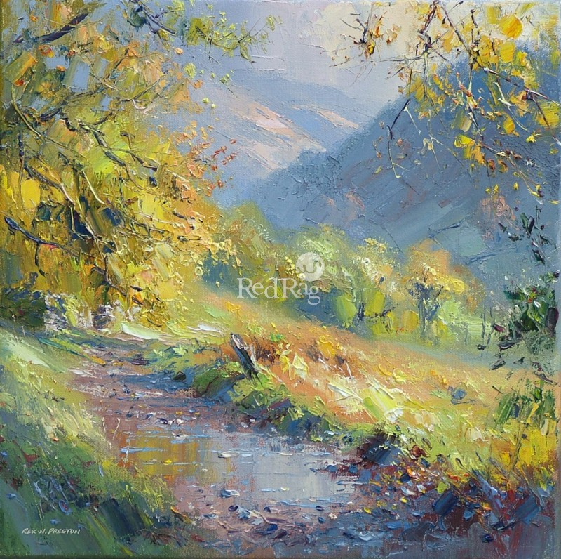 Rex PRESTON - Woodland Footpath, near Seatoller, Borrowdale