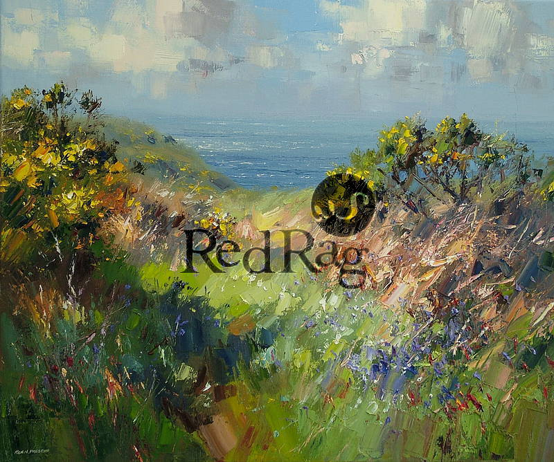 Rex PRESTON - Cornish Bluebells and Gorse