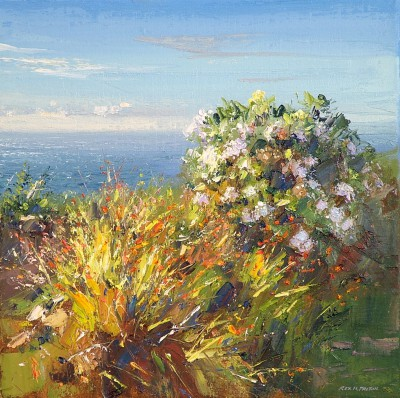 Cornish Garden painting by artist Rex PRESTON