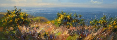 British Artist Rex PRESTON - Spring Gorse, Trevean Cliffs