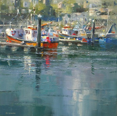 British Artist Rex PRESTON - Sunny Afternoon, Newlyn