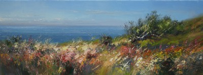 British Artist Rex PRESTON - Hot Summer Afternoon, Rosewall Hill, St Ives