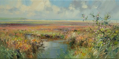 Rex PRESTON - Dog Roses, Thornham Salt Marsh, Norfolk