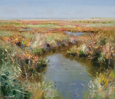 Rex PRESTON - Hot July Afternoon, Thornham Marshes, Norfolk