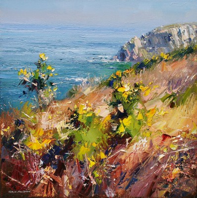 Rex PRESTON - Sunny Spring Day, Trevean Cliffs, Cornwall