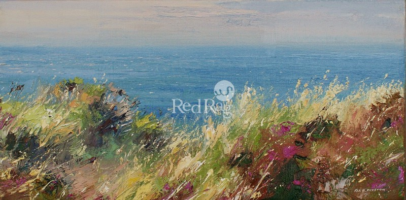 Rex PRESTON - Sunlit Grasses, Zennor Head