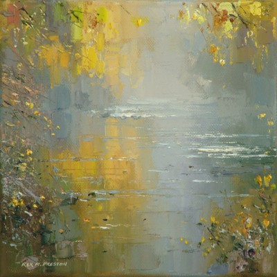 Rex PRESTON - Autumn Mist, River Derwent