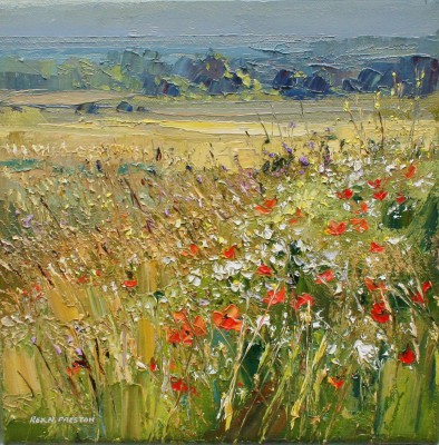 Rex PRESTON - Edge of a Barley Field, Norfolk Coast