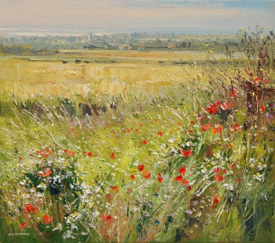 Rex PRESTON - Poppies and Daisies, Norfolk Coast