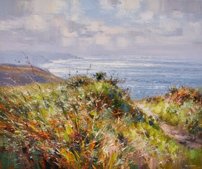 Rex PRESTON - Footpath to Cot Valley, Cornwall