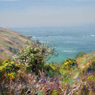 British Artist Rex PRESTON - Apple Blossom, Portheras Cove, Cornwall