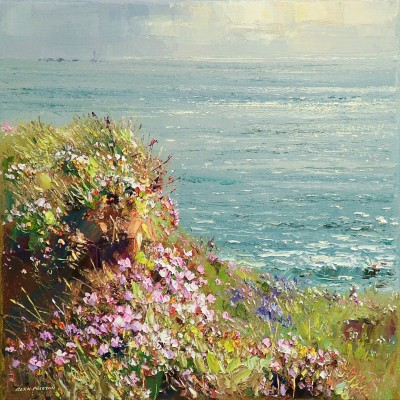 British Artist Rex PRESTON - Afternoon Sunlight, Cape Cornwall