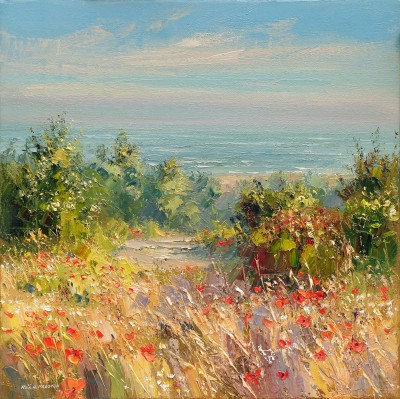 Rex PRESTON - Coastal Poppies, Norfolk