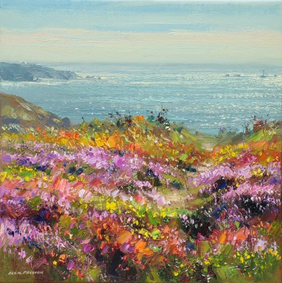 British Artist Rex PRESTON - August Flora, Carn Gloose, Cornwall