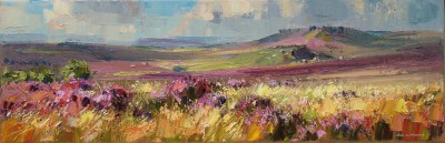 British Artist Rex PRESTON - Summer Moorland, Peak District
