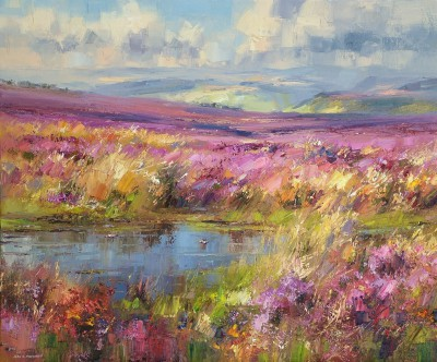 British Artist Rex PRESTON - Late September, Beeley Moor