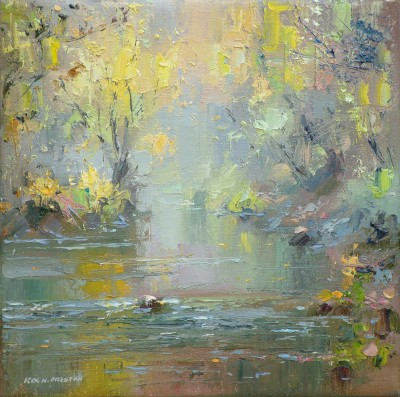 British Artist Rex PRESTON - November Afternoon, Chee Dale