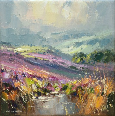 British Artist Rex PRESTON - Beeley Moor