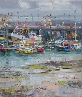Rex PRESTON - Low Tide, Newlyn Harbour