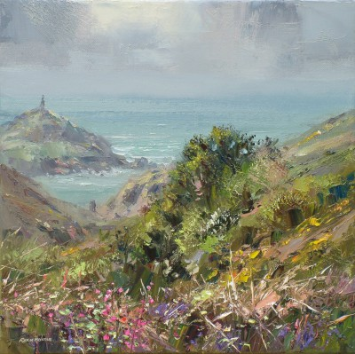 British Artist Rex PRESTON - Soft Light, Cape Cornwall