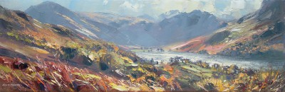 Sunny Autumn Day, Buttermere painting by artist Rex PRESTON
