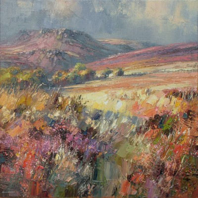 Late Afternoon Light, Totley Moor painting by artist Rex PRESTON