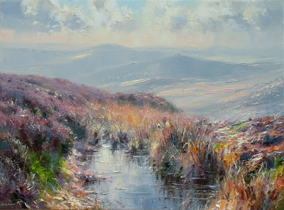 British Artist Rex PRESTON - View from Burbage Moor