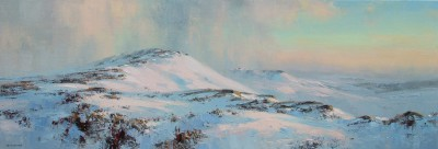 British Artist Rex PRESTON - Winter's Afternoon, Stanage Edge