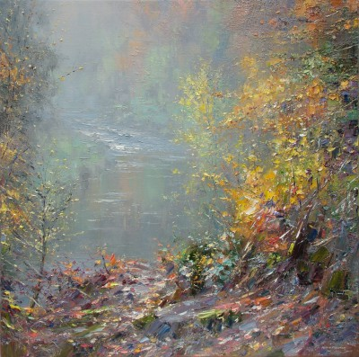 British Artist Rex PRESTON - River Wye, Chee Dale