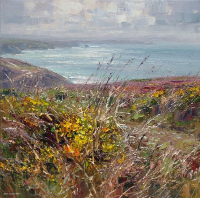 British Artist Rex PRESTON - Footpath to Chapel Porth