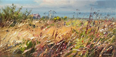 British Artist Rex PRESTON - Late Summer Grasses, West Cornwall