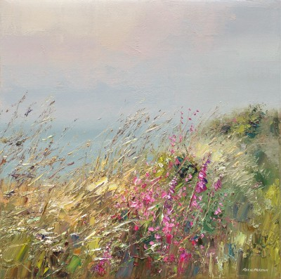 British Artist Rex PRESTON - Cornish Wall in June