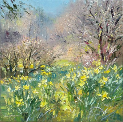 Rex PRESTON - Woodland Daffodils, Lake District