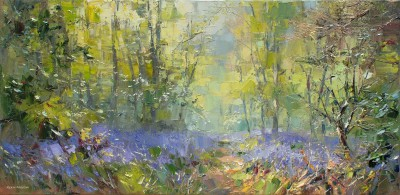 British Artist Rex PRESTON - Spring Afternoon, Bramley Woods