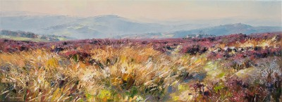 British Artist Rex PRESTON - Parson House Farm, Houndkirk Moor