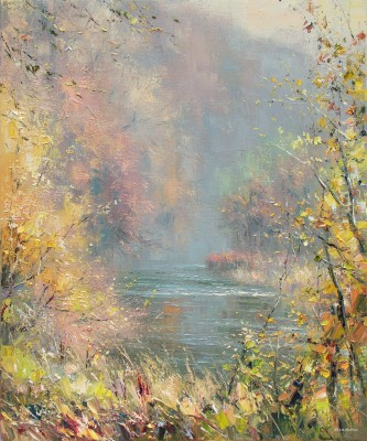 British Artist Rex PRESTON - Autumn in Dovedale