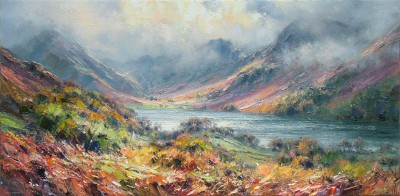 British Artist Rex PRESTON - Autumn, Buttermere