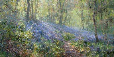 British Artist Rex PRESTON - Bluebell Wood