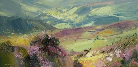 Rex PRESTON - Sunlit Valley from Hallam Moors