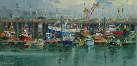 Rex PRESTON - Fishing Boats, Newlyn Harbour