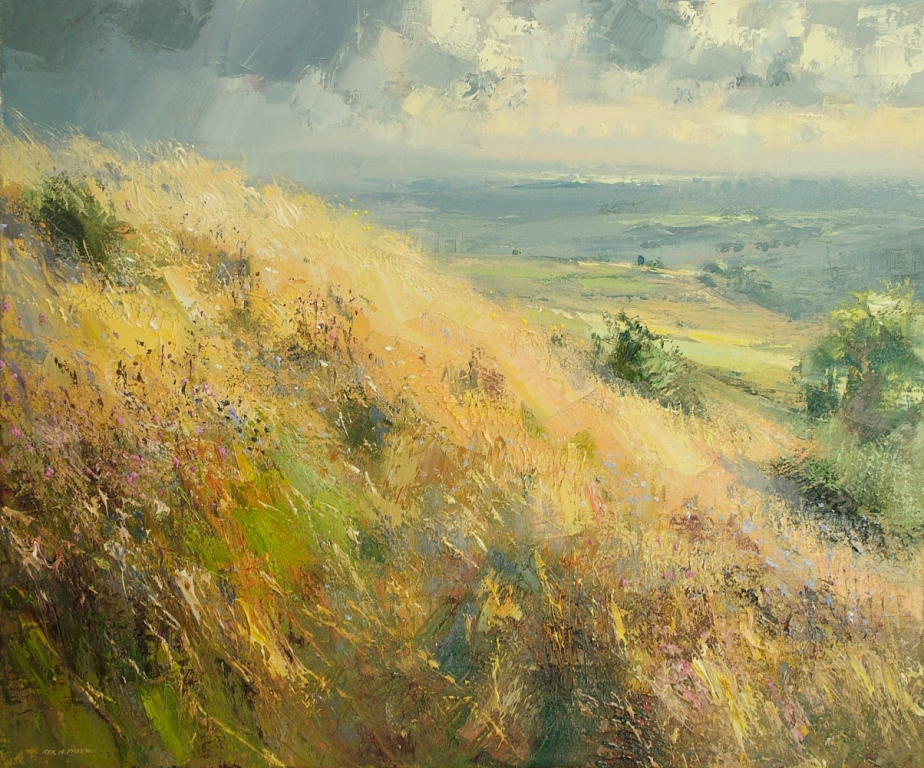Rex PRESTON - Hillside Grasses in September