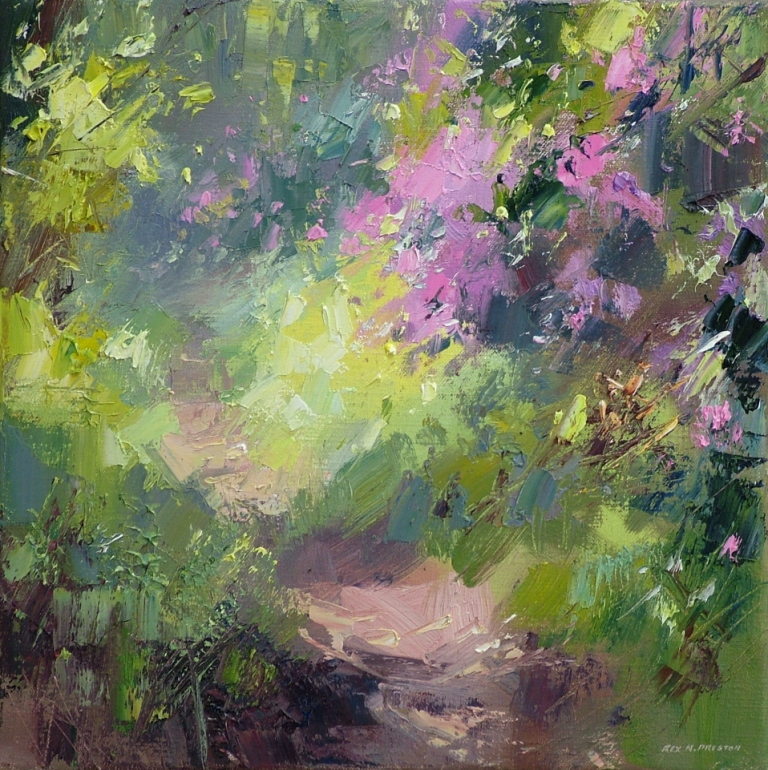 Rex PRESTON - Sunlight on the Rhododendrons
