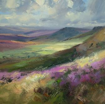 British Artist Rex PRESTON - August Moorland